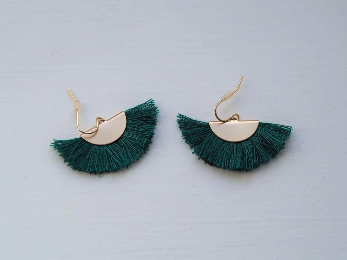 what-lizzy-loves-green-tassel-earrings