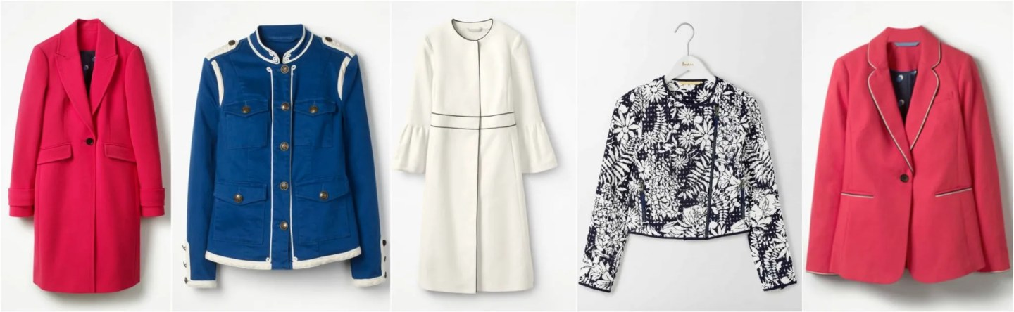 what lizzy loves Boden sale jackets and coats