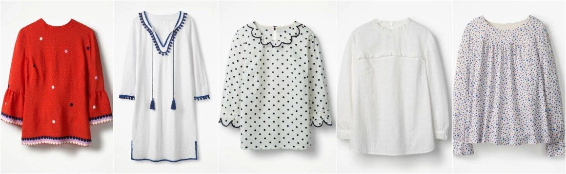 what Lizzy Loves Boden sale tops