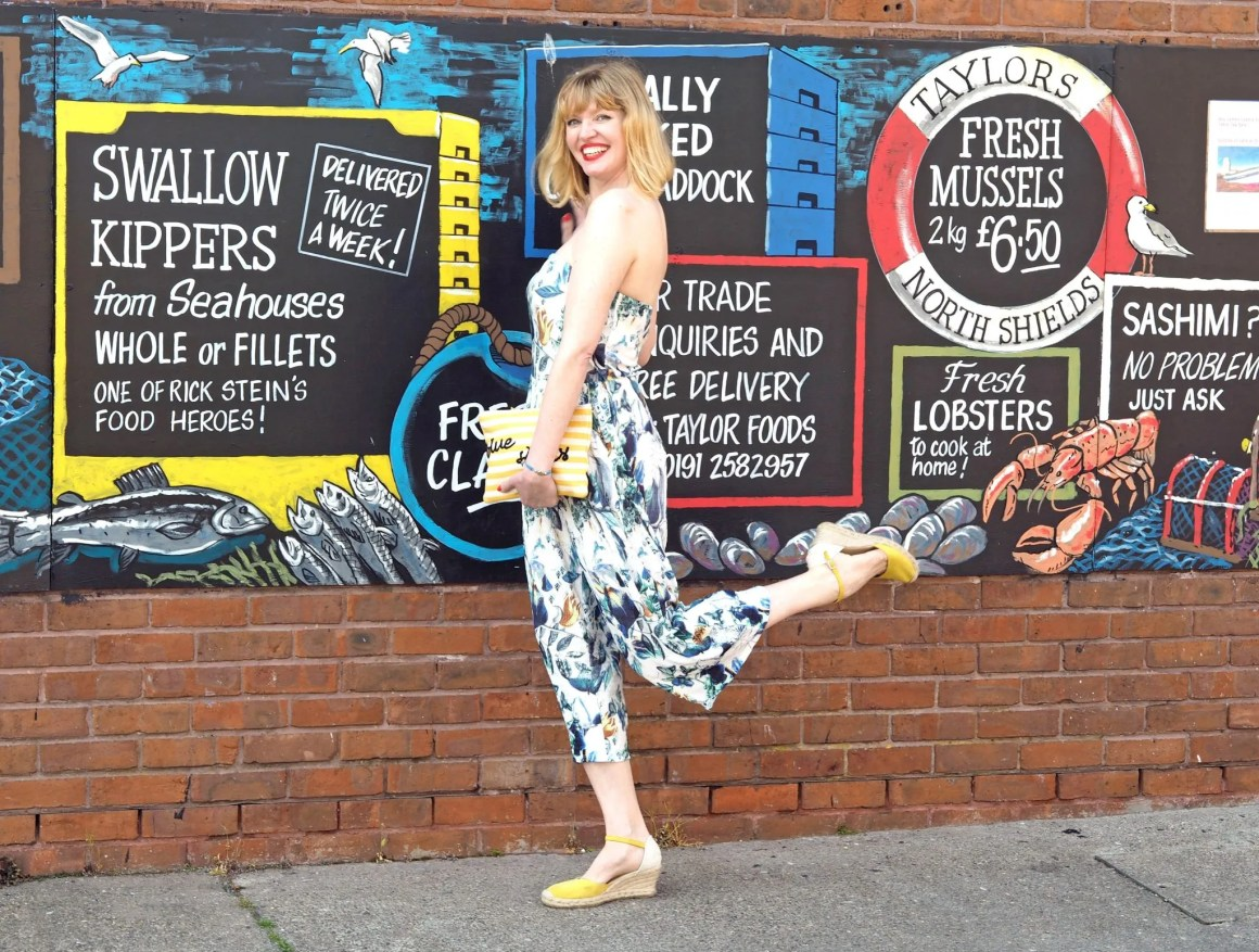 what lizzy loves floral jumpsuit yellow espadrilles