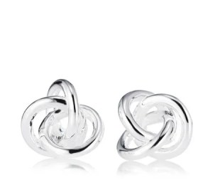 Links of London silver and topaz love knot earrings