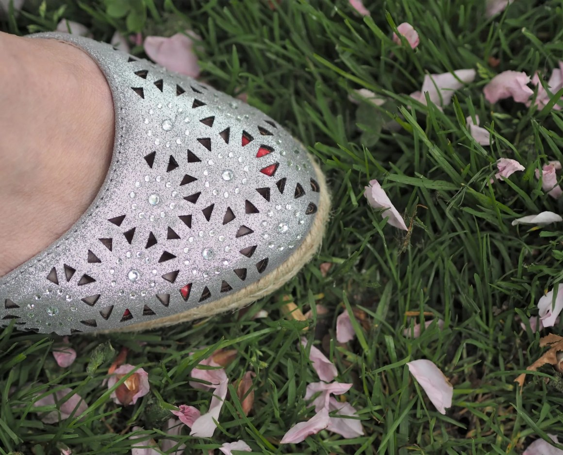 what lizzy loves Lotus Nigella silver diamante espadrilles