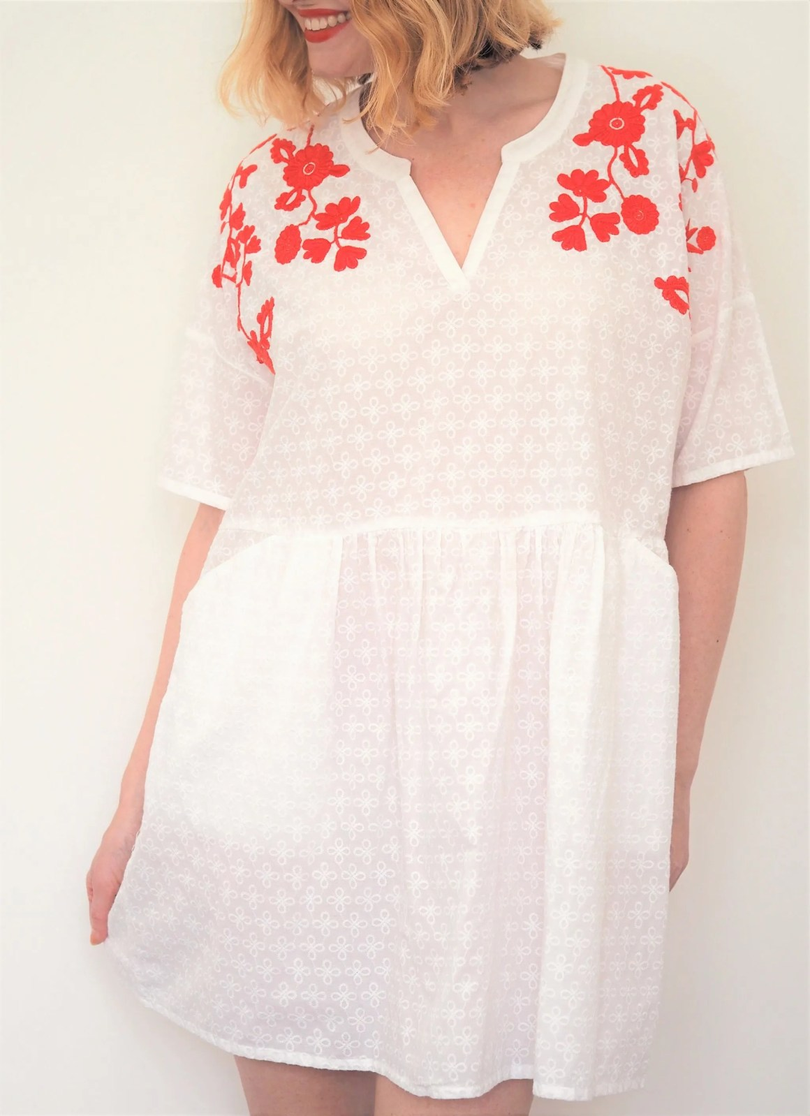 what lizzy loves red holiday wardrobe embroidered dress