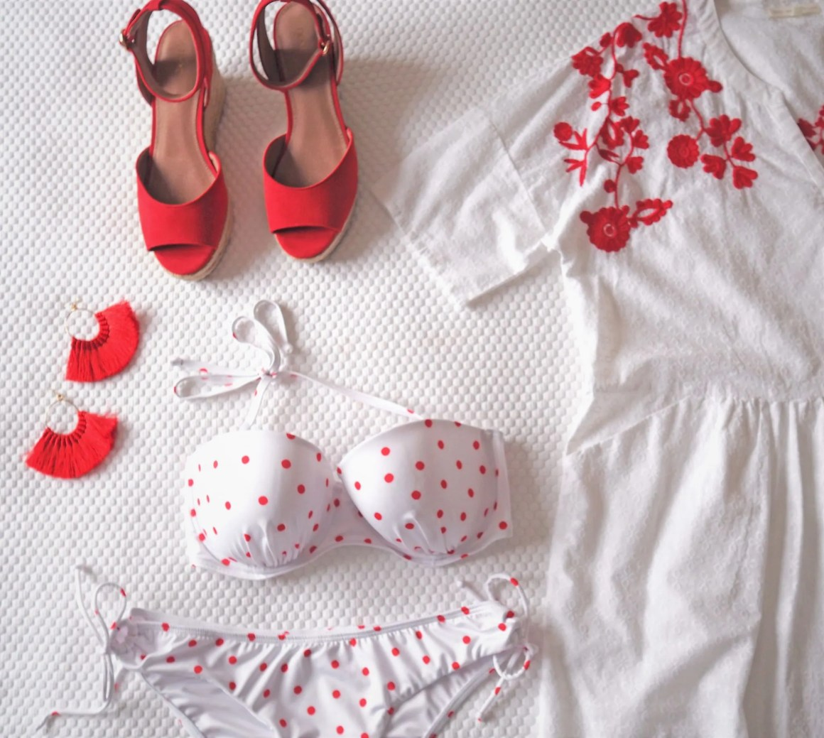what lozzy loves red holiday wardrobe bikini and accessories