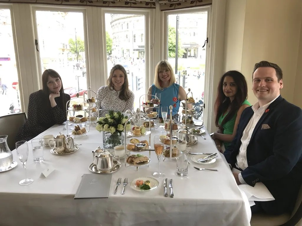 We Blog North bloggers afternoon tea at Bettys