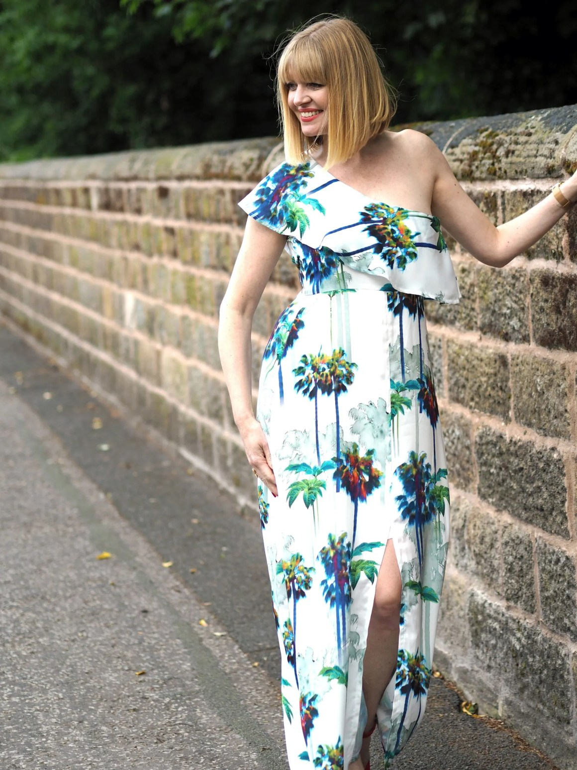what lizzy loves tropical palm print maxi dress