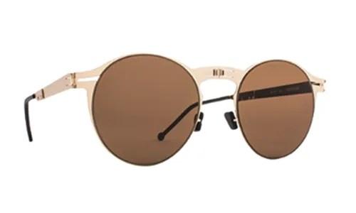 Roav eyewear Balto gold brown details