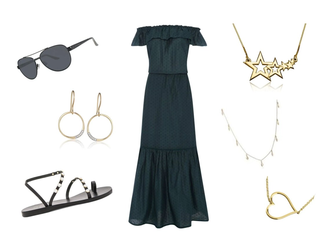 festival utfits over 40 maxi dress and sandals