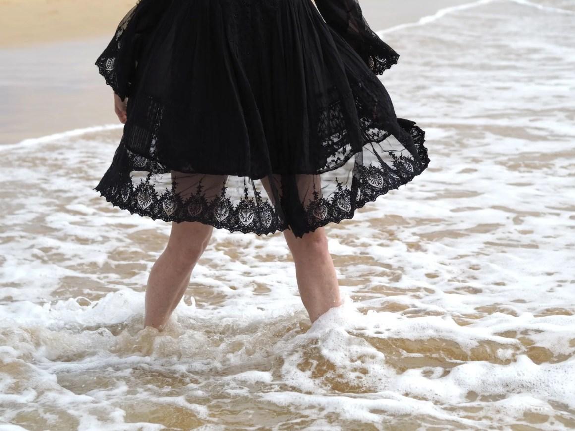 What Lizzy Loves Iconique black sun dress full skirt