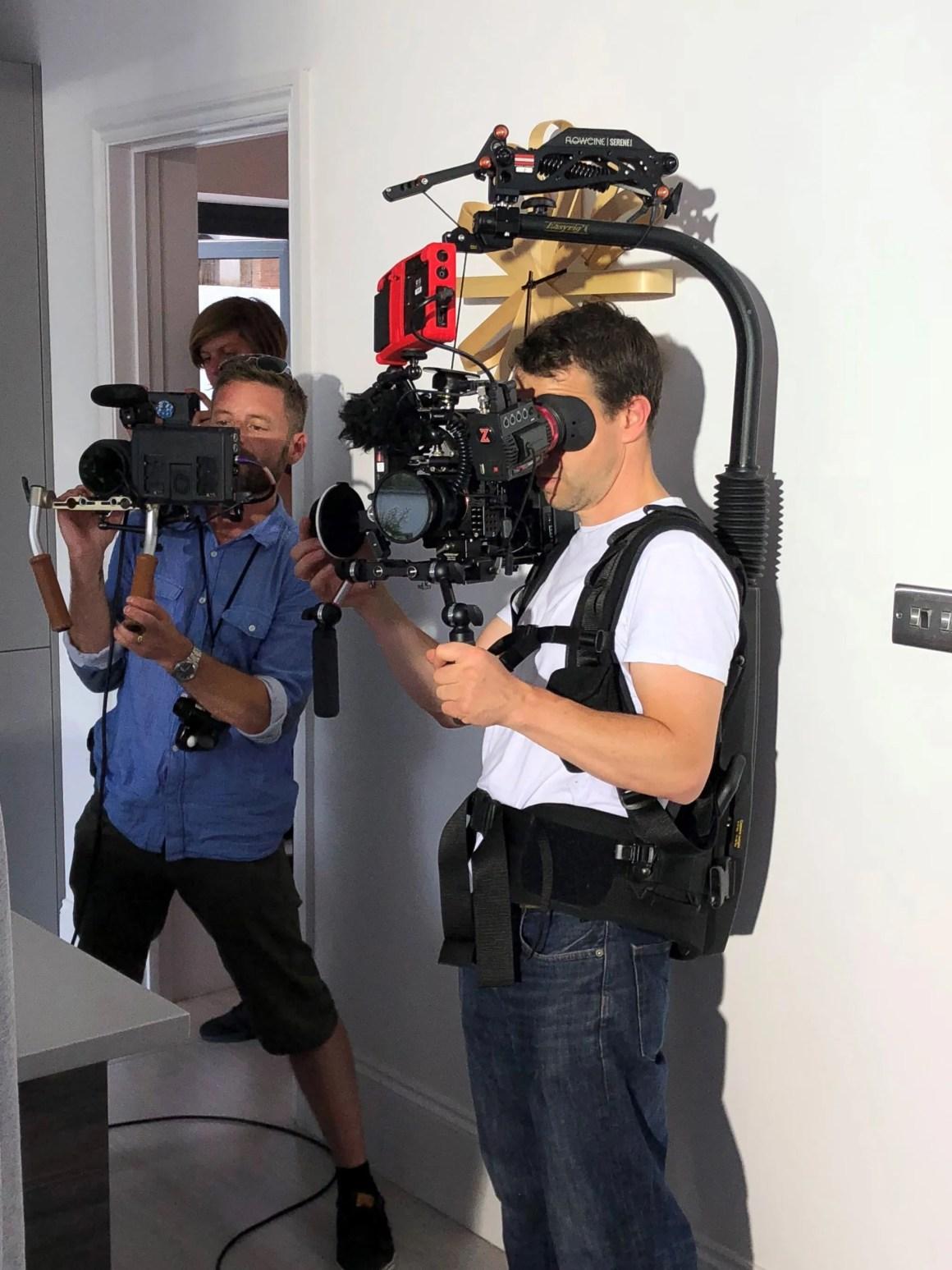 what lizzy loves Dermalex video shoot film crew