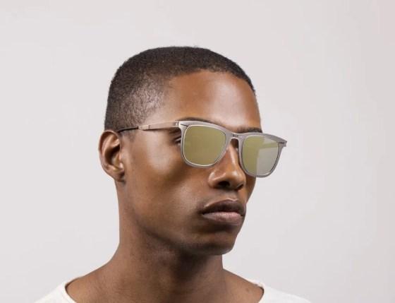 Roav eyewear Lennox gunmetal frames copper mirror lenses