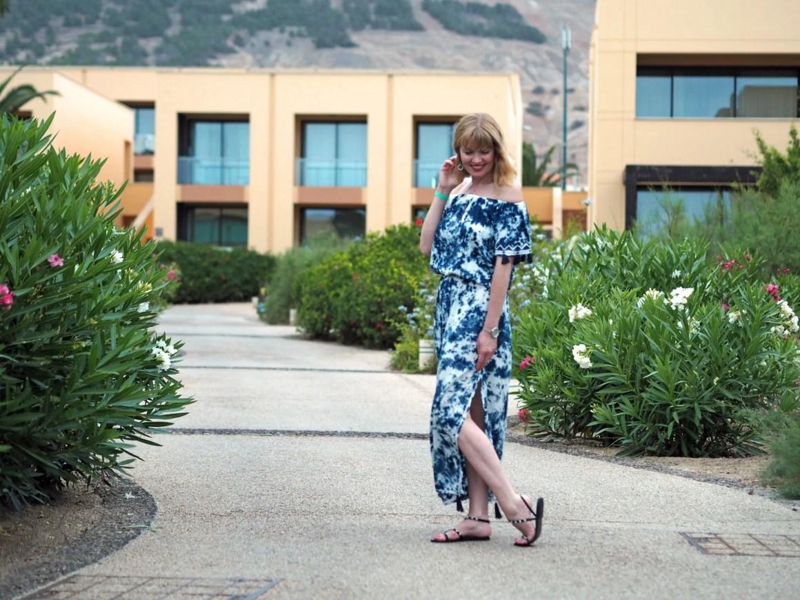 tie-dye maxi dress sandals porto santo