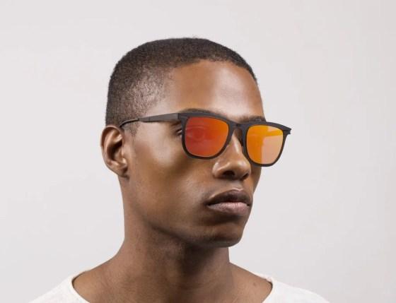 Roav eyewear Lennox black frame red mirror lens