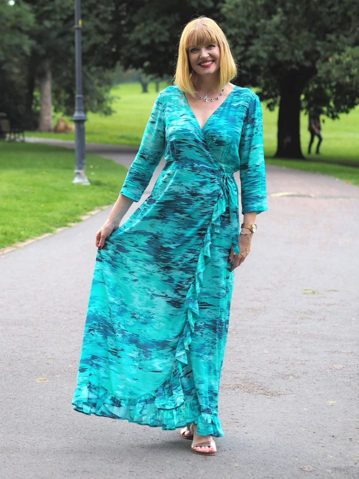 what lizzy loves sophia alexia caribbean dream ruffle wrap dress