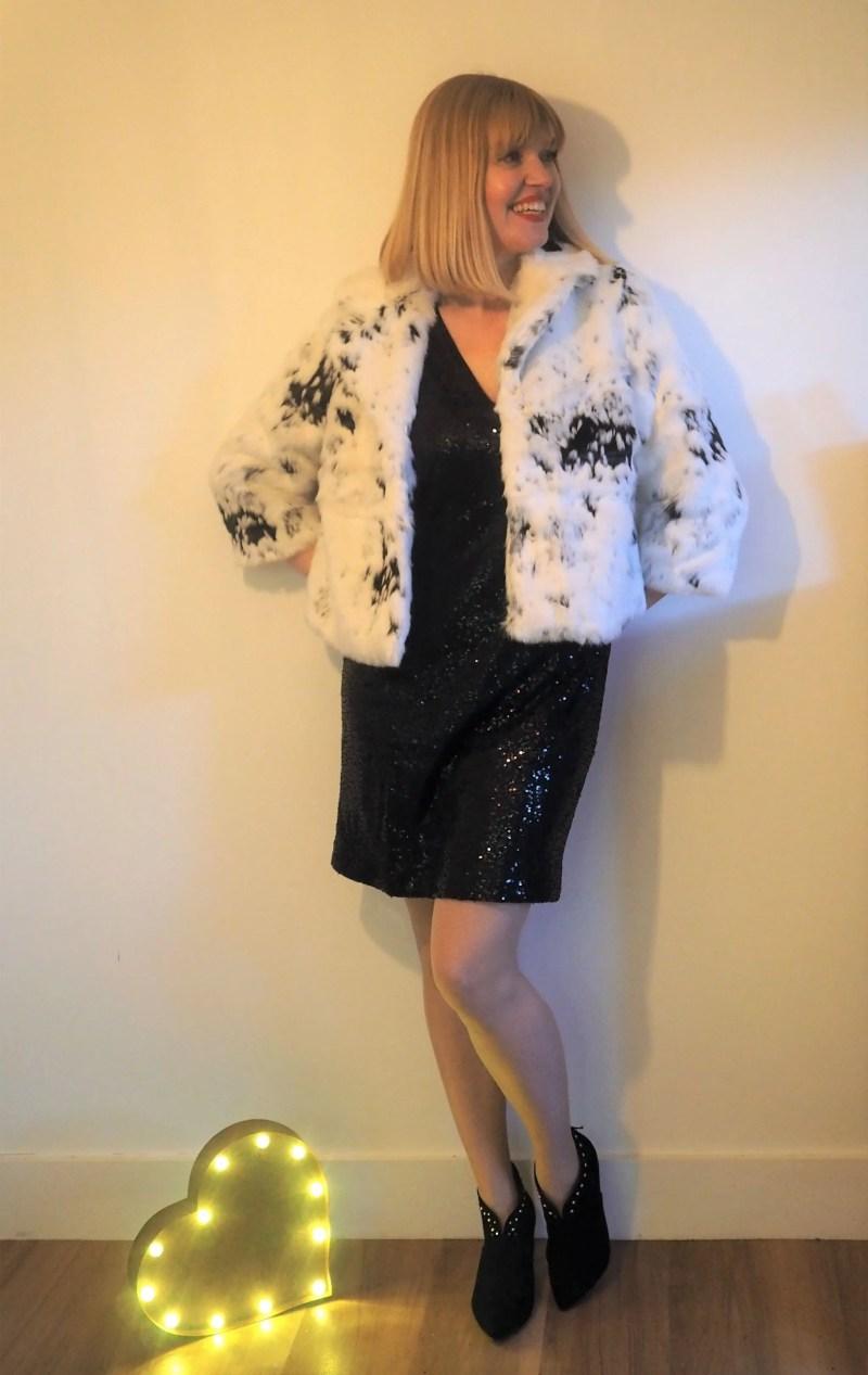 Partywear at JD Williams little black sequin dress