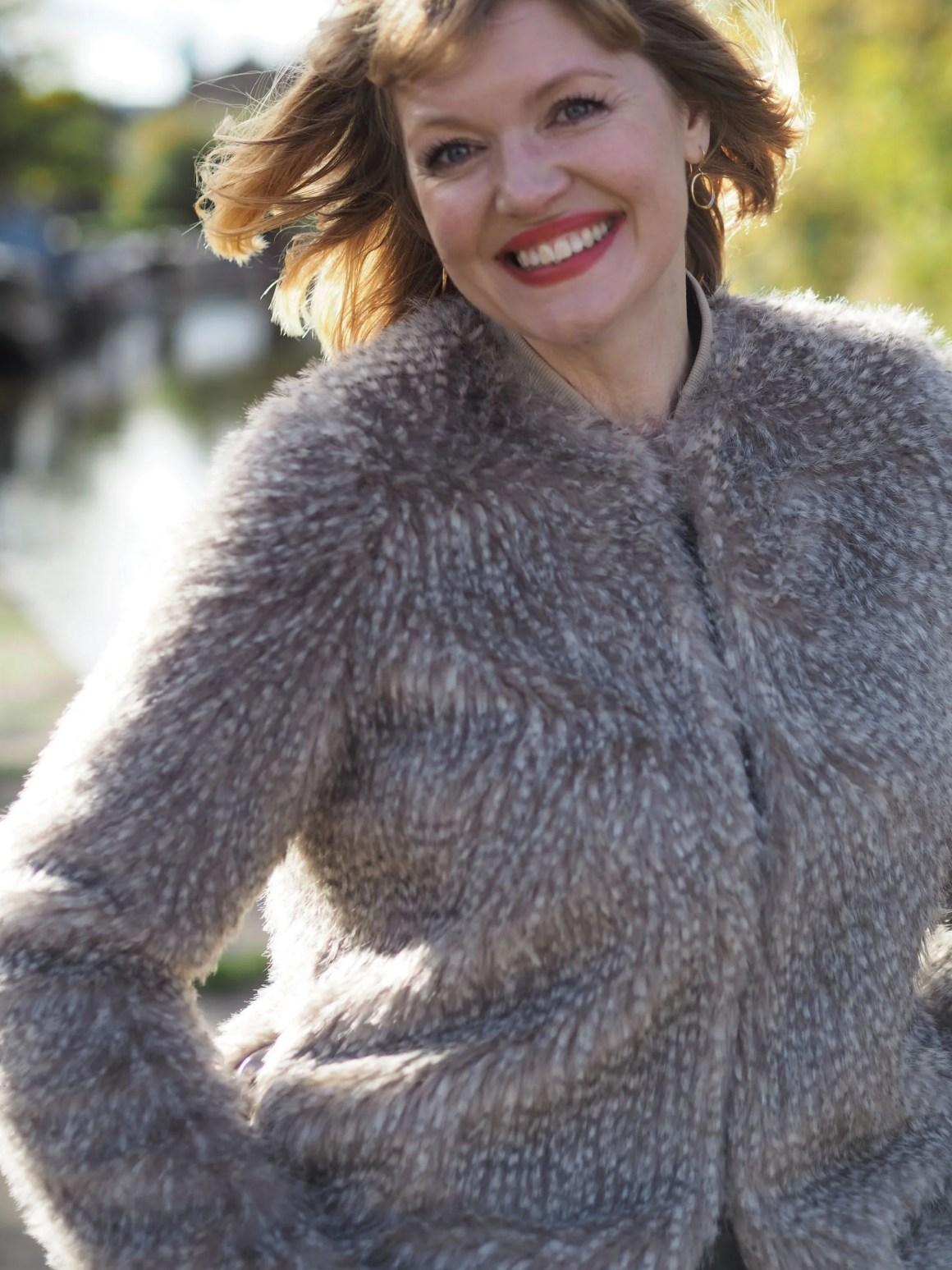 Jaegar faux fur jacket