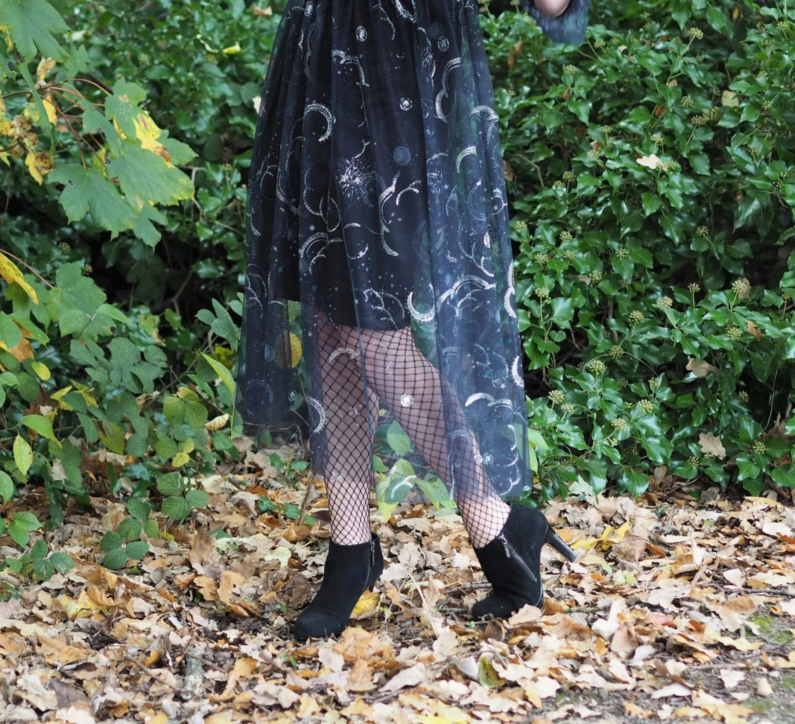 fishnet tights and ankle boots