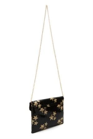 Sequin Star Envelope Clutch Bag