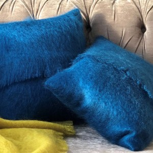 Samuel Tweed mohair cushion