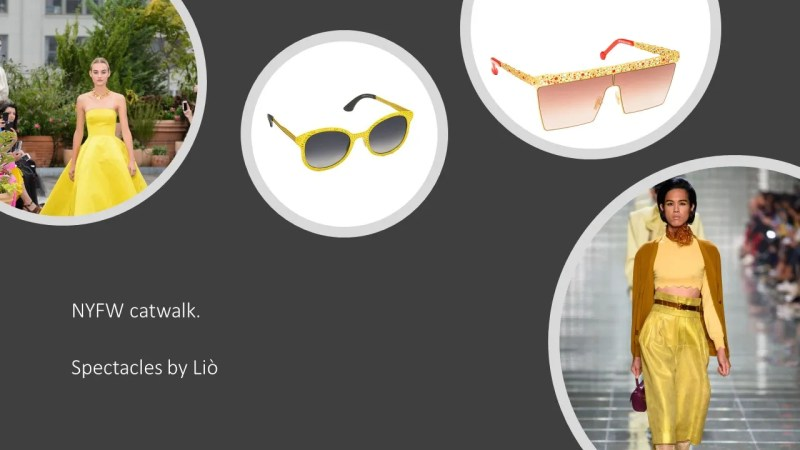 Spectacle trends 2019 yellow