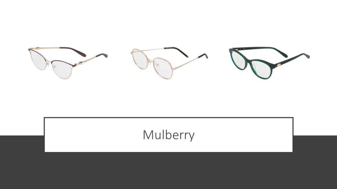Mulberry spectacle frames