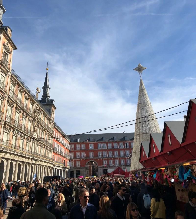 plaza major madrid christmas market