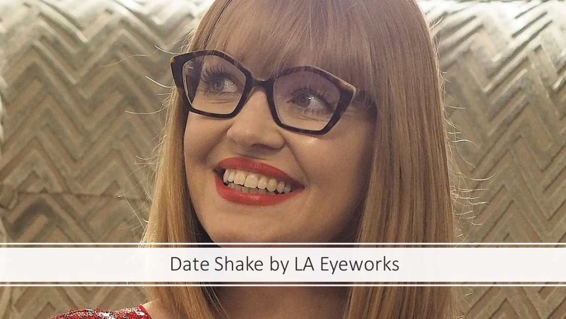 over 40 eyewear blogger wears LA Eyewear pentagonal frame for eyewear week