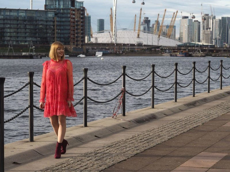 Needle and Thread living Coral dress