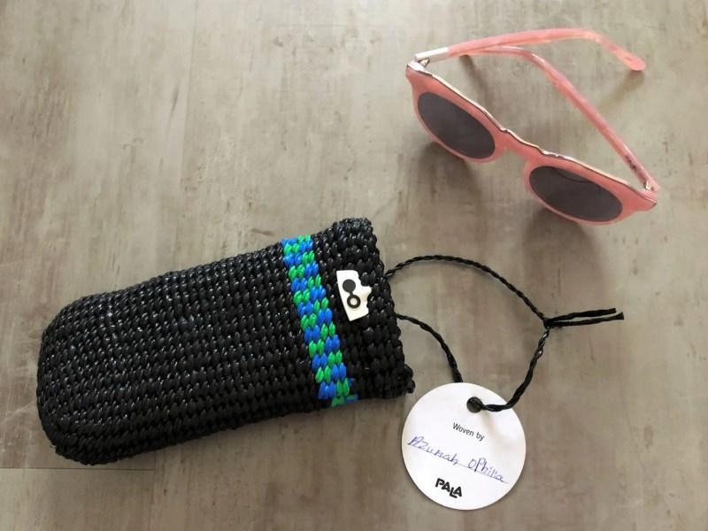 Pala ethical sustainable eyewear sunglasses woven case