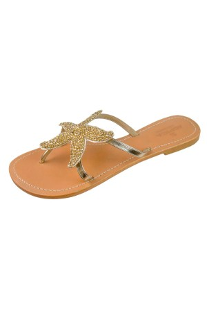 Aspiga Beach Gold Starfish Sandals
