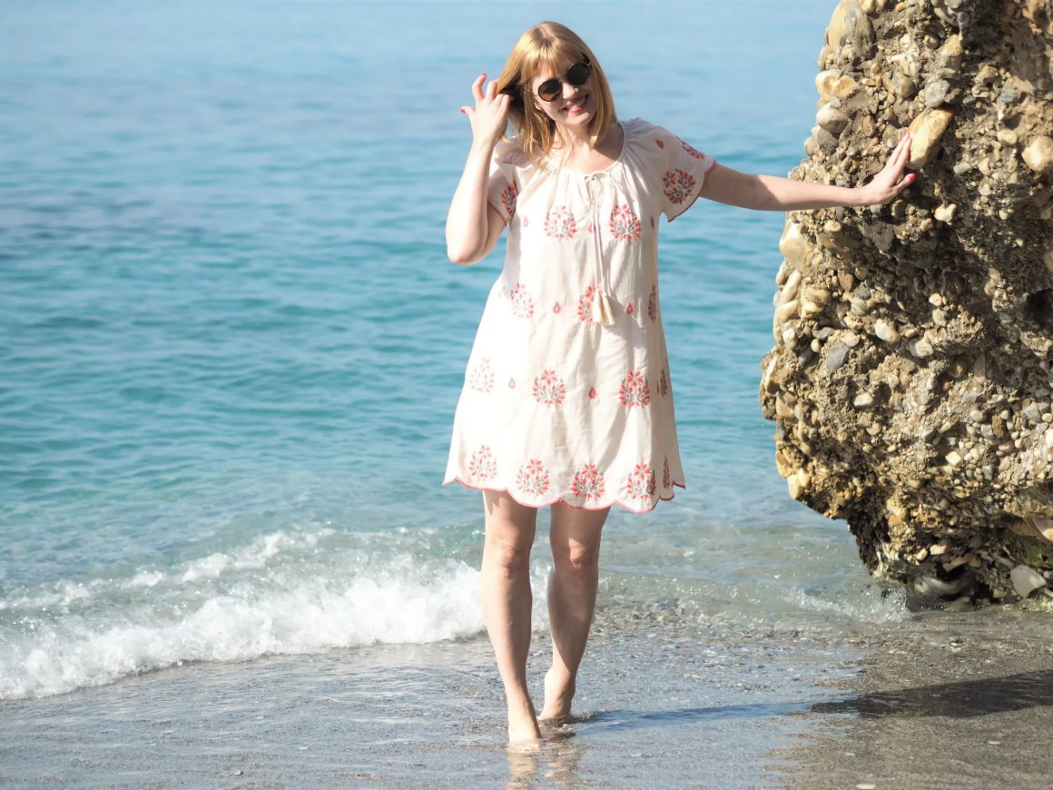 embroidered ethical beach dress