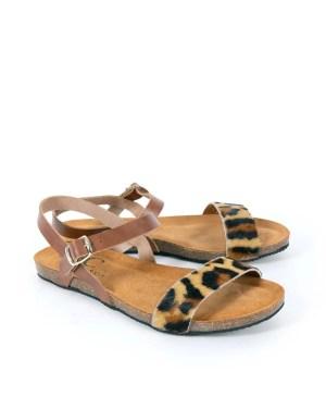 Celtic & Co Leopard Print Sandals