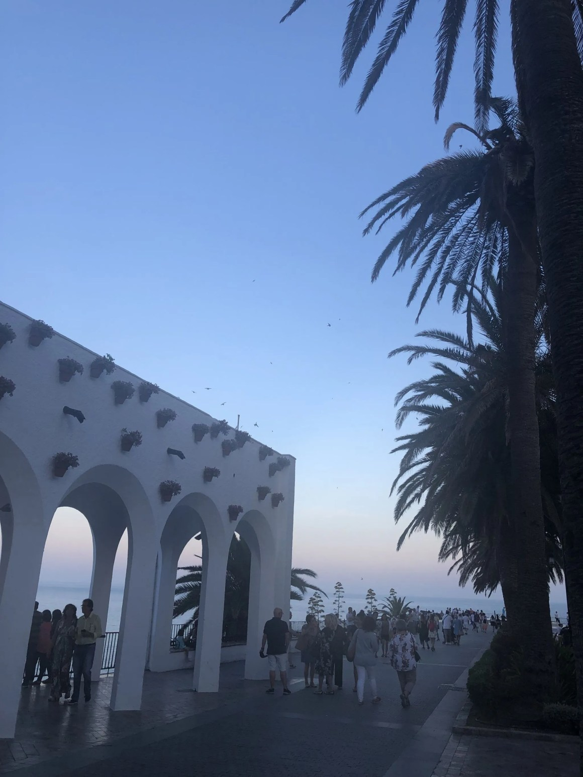 Nerja arches at dusk