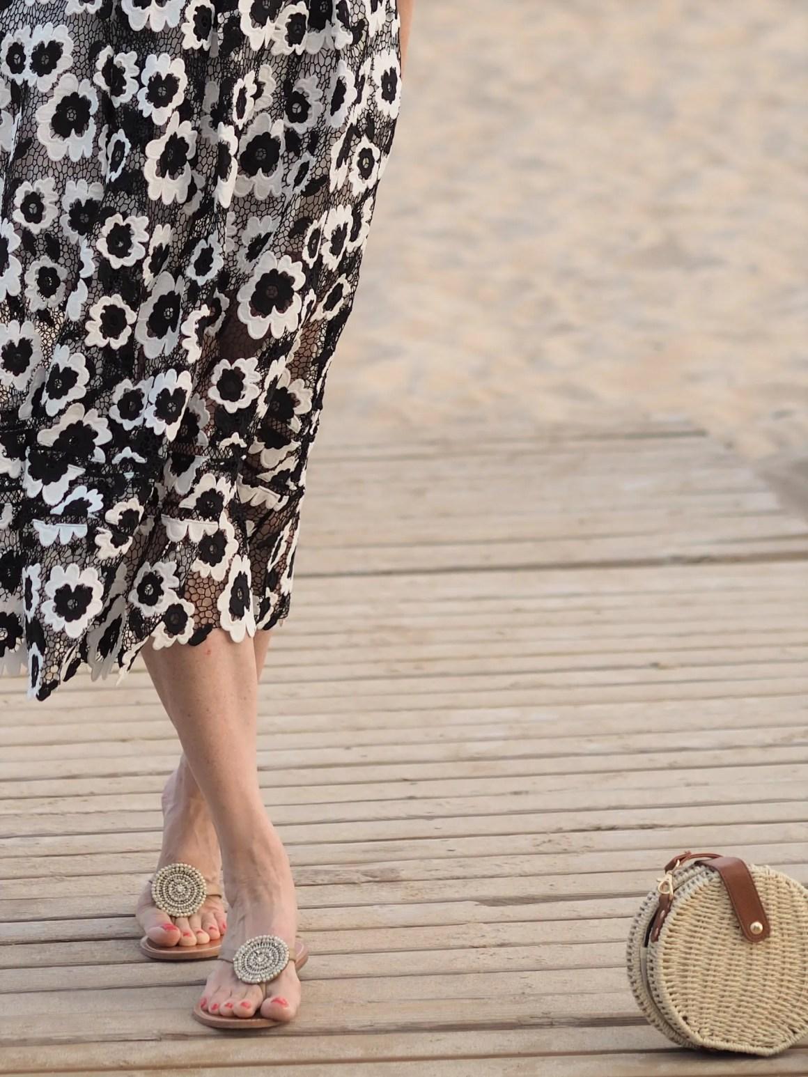 Self-Portrait Black and White Dress: informal Styling