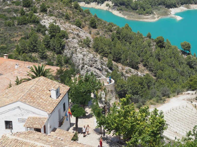 view from Guadalest castle