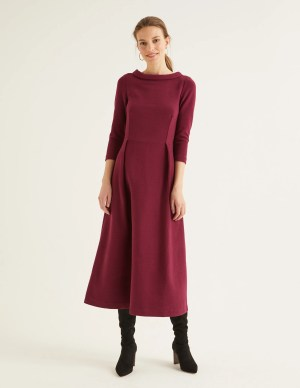Boden Violet Ottoman Dress in Ruby Ring