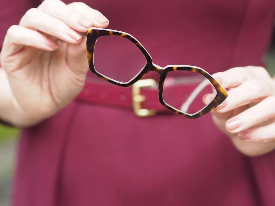 LA Eyeworks pentagonal tortoisehell eyewear