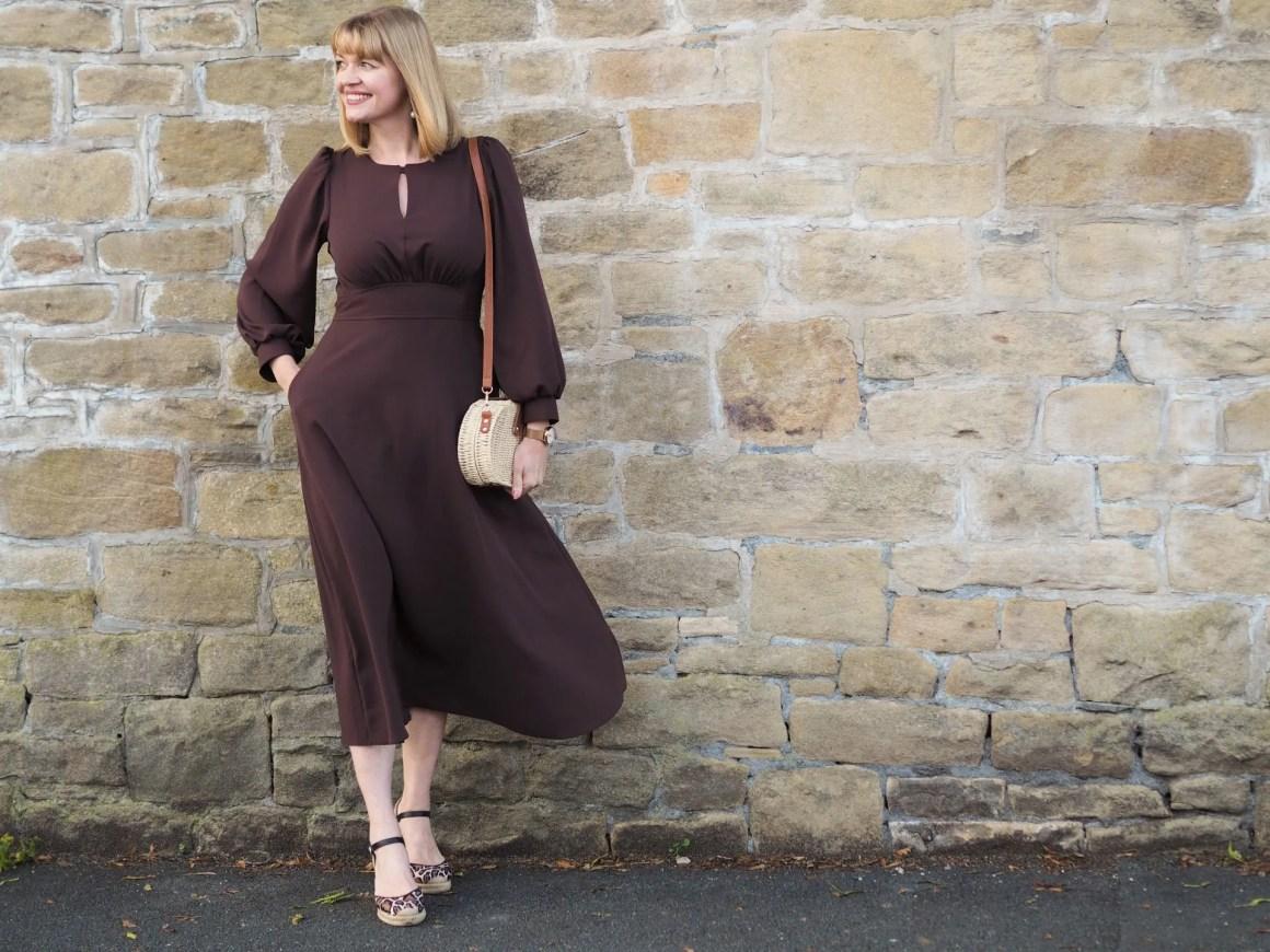 Closet brown midi dress