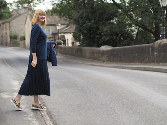 Navy outfit transitional dressing