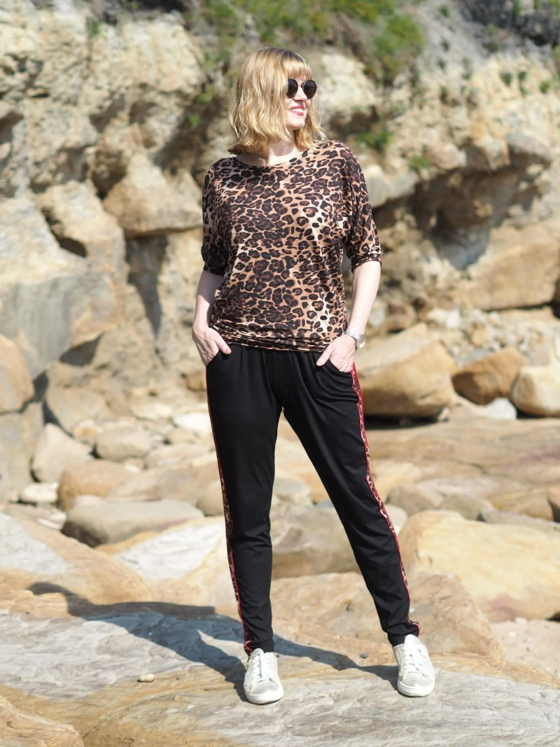 Leopard print ethical yoga pants