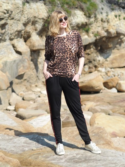 Leopard print yoga clothing