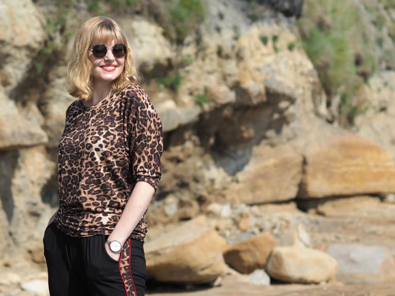 leopard print ethical activewear