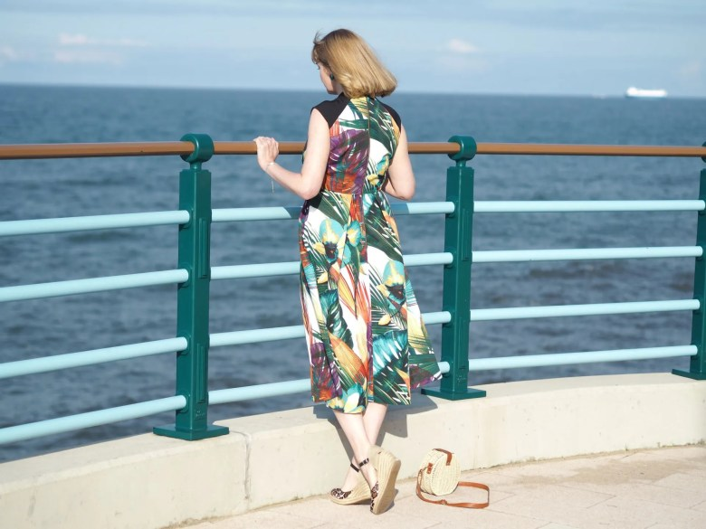 Closet leaf print dress