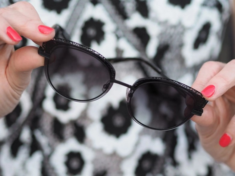 French Independent eyewear brand Morel Zuma black lace cat eye frame
