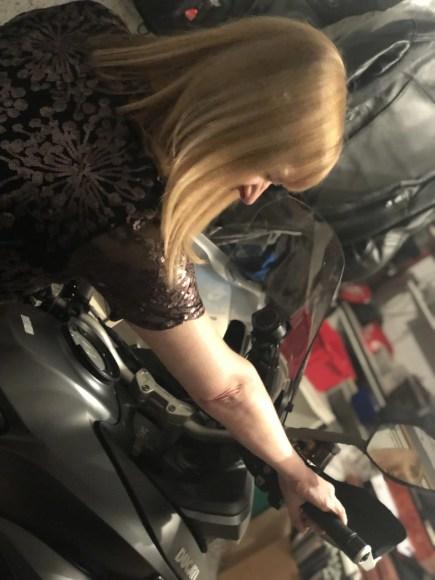 scalloped edge sequin dress