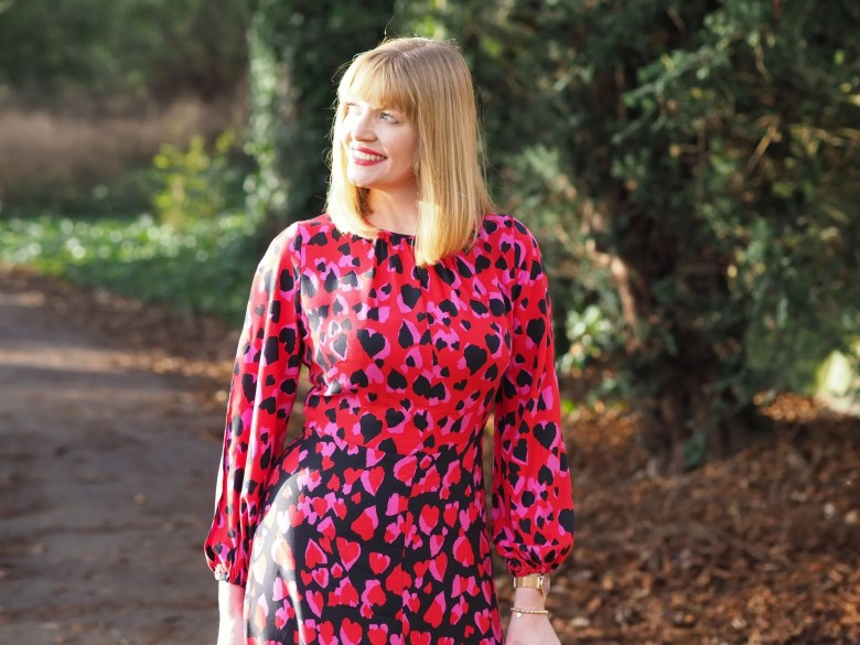 red velvet blazer heart print dress