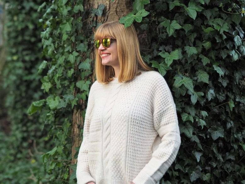 sustainable yellow mirror sunglasses