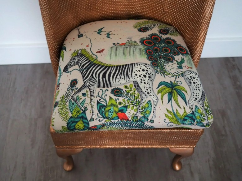 Upcycling a Lloyd Loom chair (8)