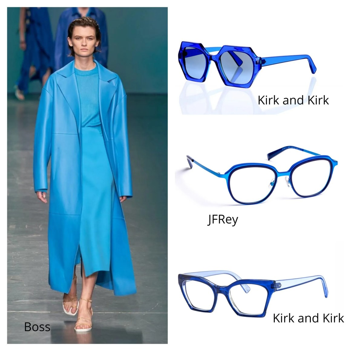 fashion and eyewear trends 2020 fluorescent blue