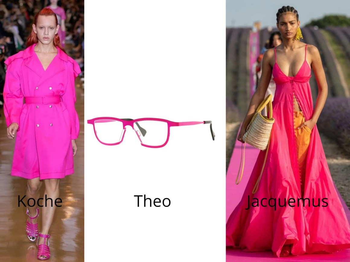 pink neon brights fashion and eyewear trends 2020
